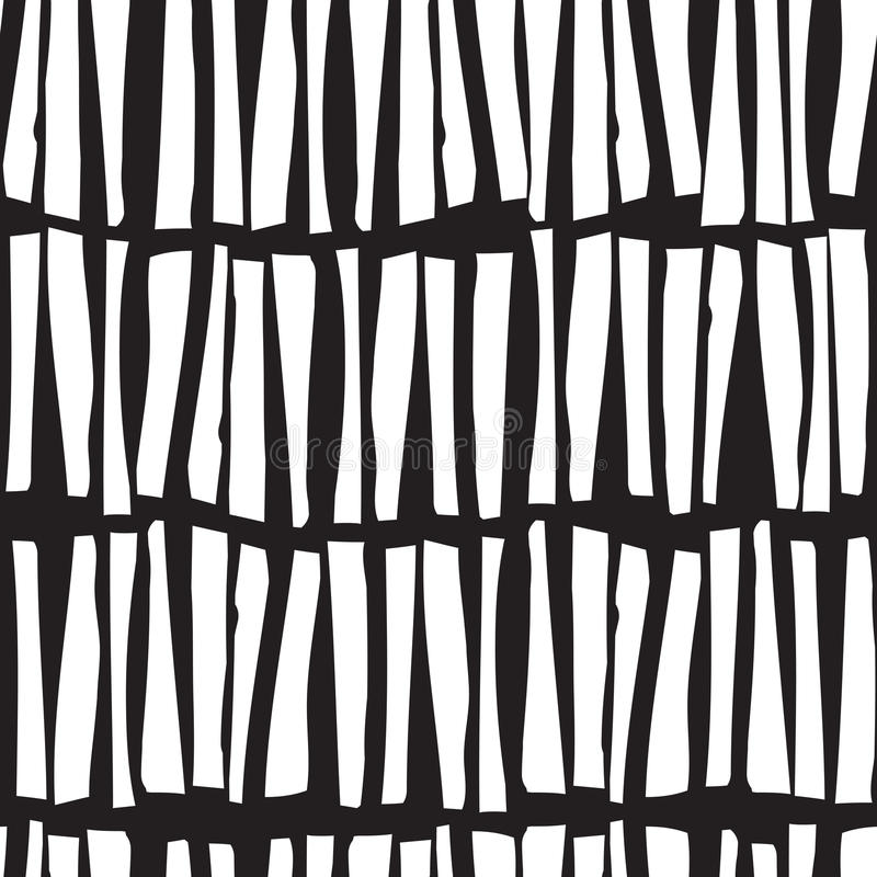 Seamless pattern with hand drawn vertical lines. Vector stock illustration