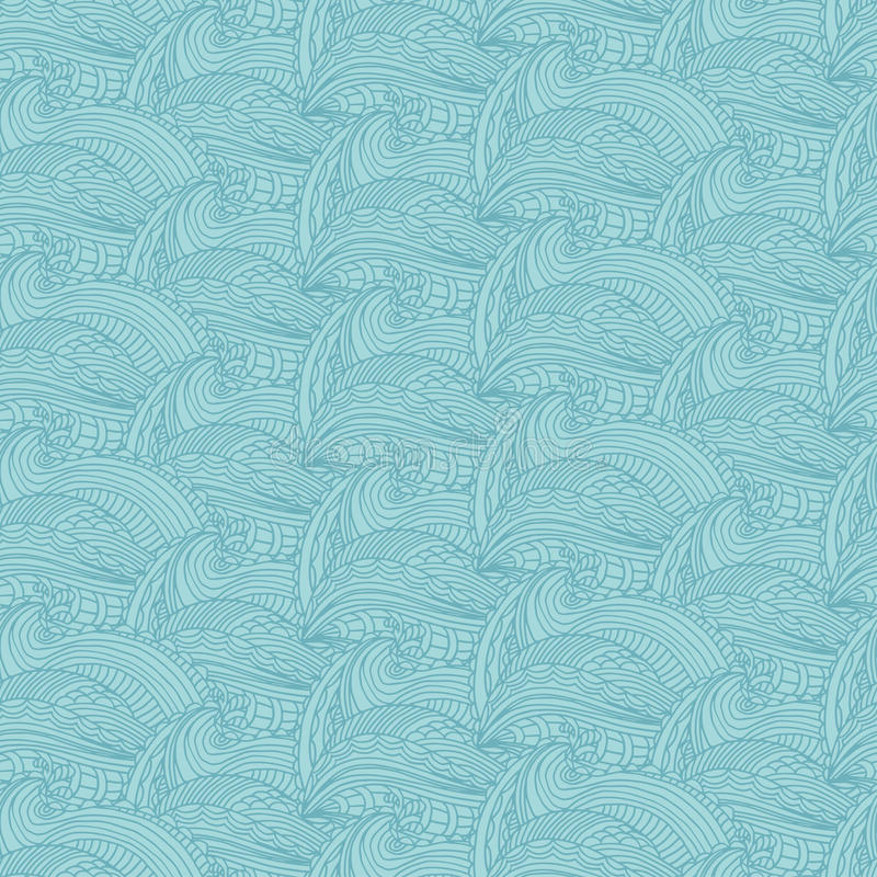Seamless pattern hand drawn waves and lines .Vector illustr. Seamless pattern with hand drawn waves and lines .Vector illustration royalty free illustration