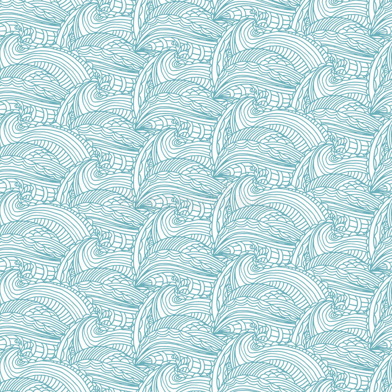 Seamless pattern with hand waves and lines .Vector illustr. Seamless pattern with hand drawn waves and lines .Vector illustration royalty free illustration