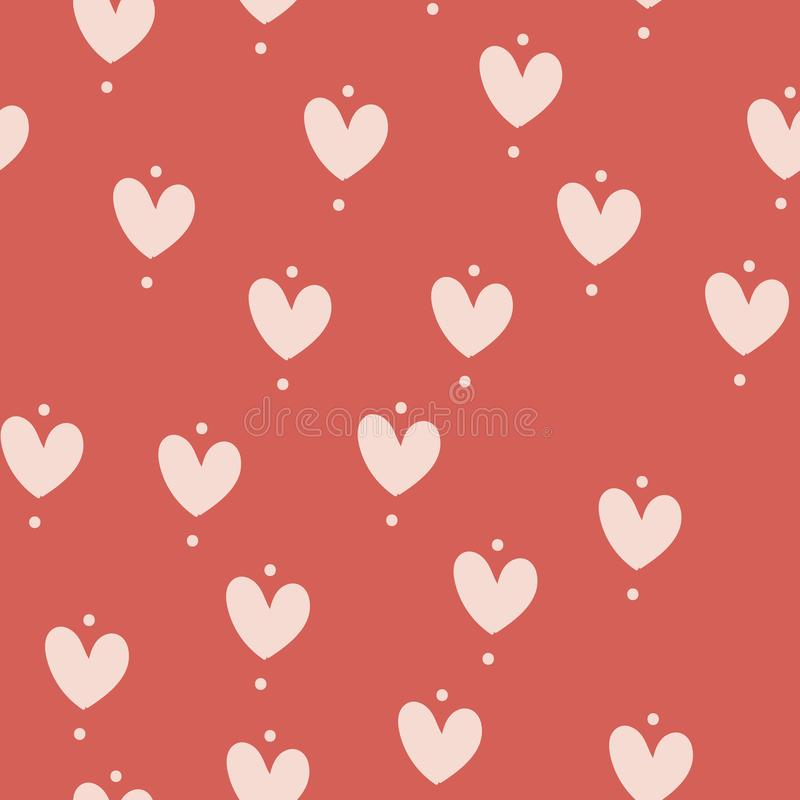 Seamless pattern for Happy Valentine Day, Vector.  vector illustration