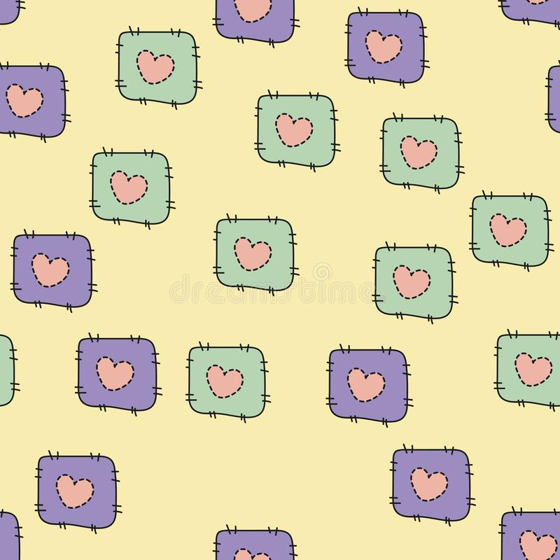Seamless pattern for Happy Valentine Day, Vector.  royalty free illustration
