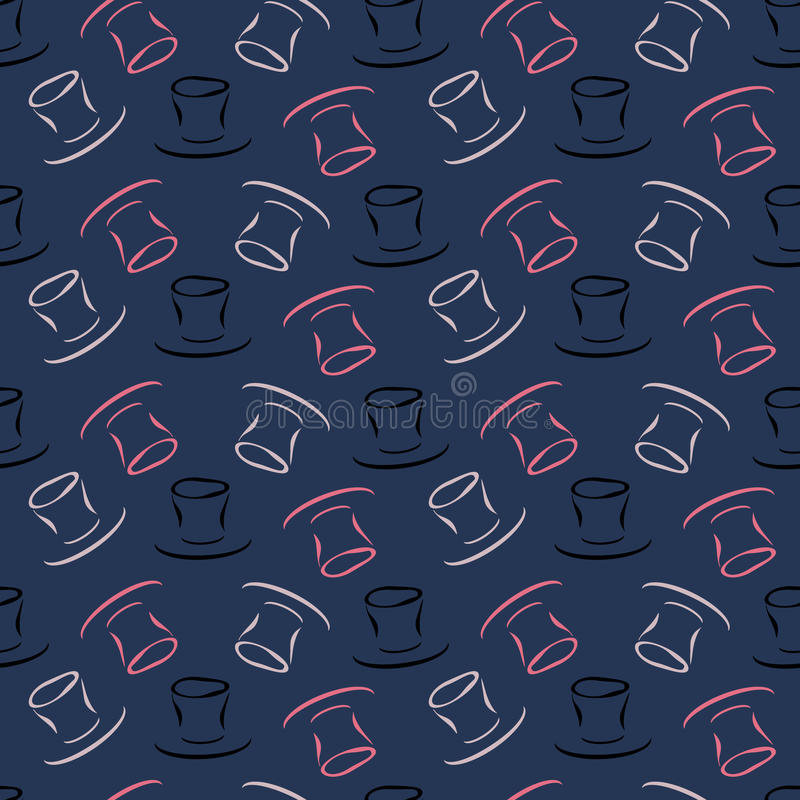 Seamless pattern with hat vector illustration