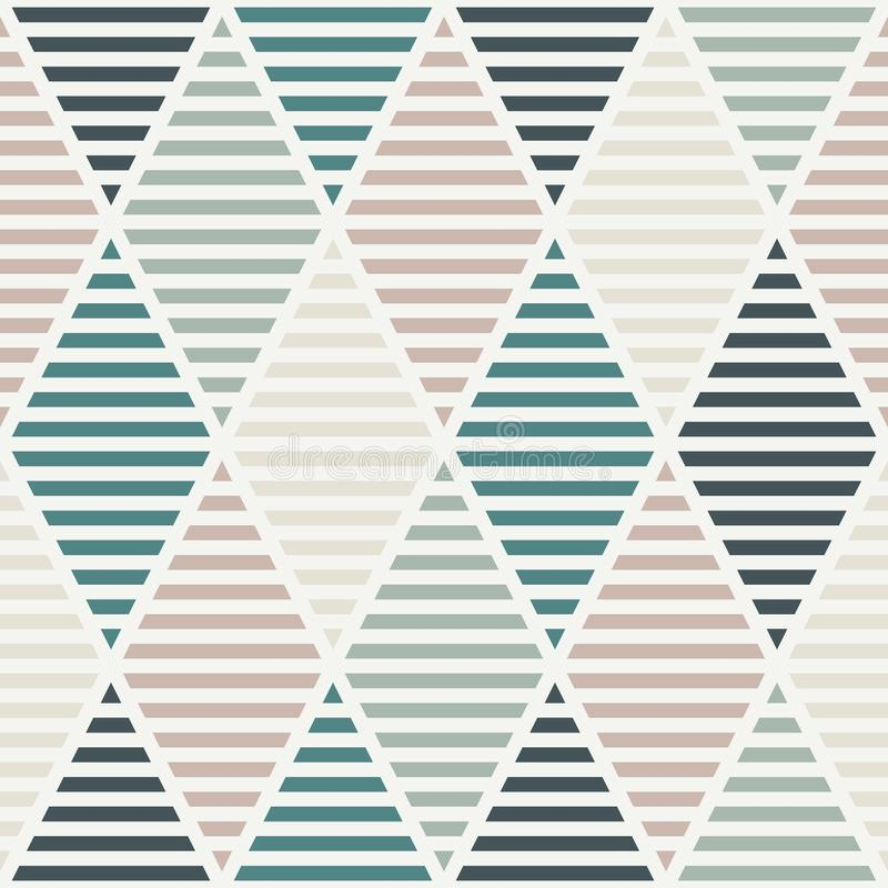 Seamless pattern with hatched diamonds. Argyle wallpaper. Rhombuses and lozenges motif. Repeated geometric figures. Abstract background. Modern style digital royalty free illustration