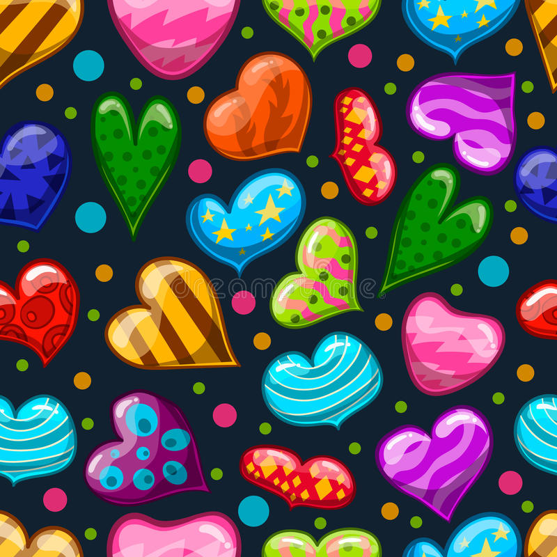 Seamless pattern with heart. Seamless pattern with cartoon heart. Valentines illustration royalty free illustration