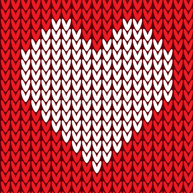 Seamless pattern with heart stock illustration