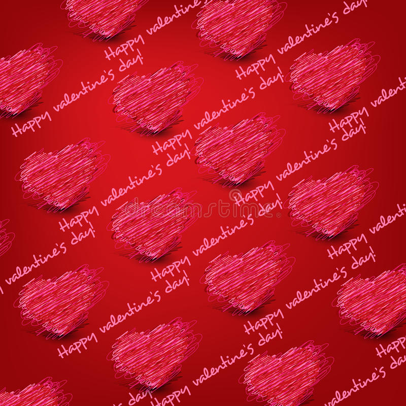Seamless pattern heart for Valentine's day. Red Seamless pattern for Saint-Valentine royalty free illustration