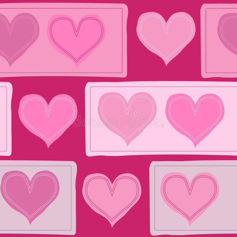 Download Seamless Pattern With Hearts Stock Vector - Image: 12038761