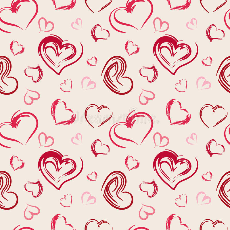 Seamless pattern hearts. Abstract seamless pattern hearts. Vector illustration stock illustration