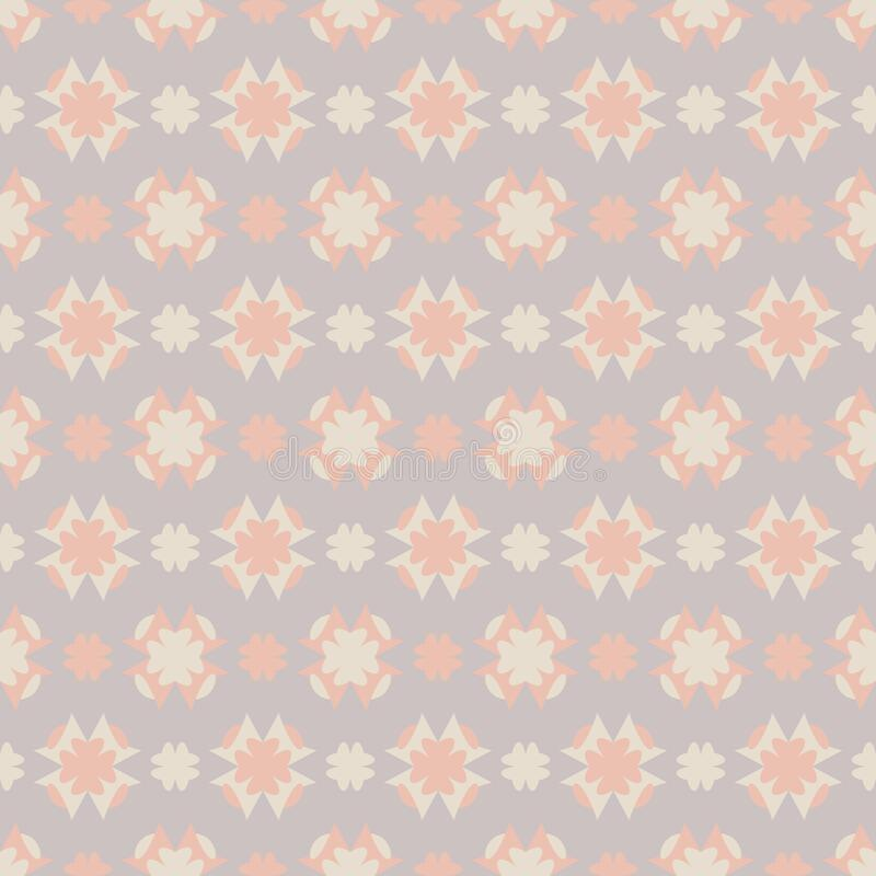 Seamless pattern with hearts. Color grey, orange and cream ivory. Pastel colors. Vector. stock photo
