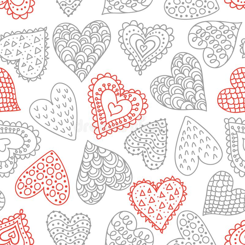Seamless pattern with hearts royalty free illustration