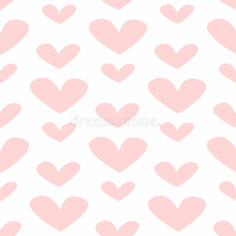 Seamless pattern with hearts. Romantic print. Cute vector illustration royalty free illustration