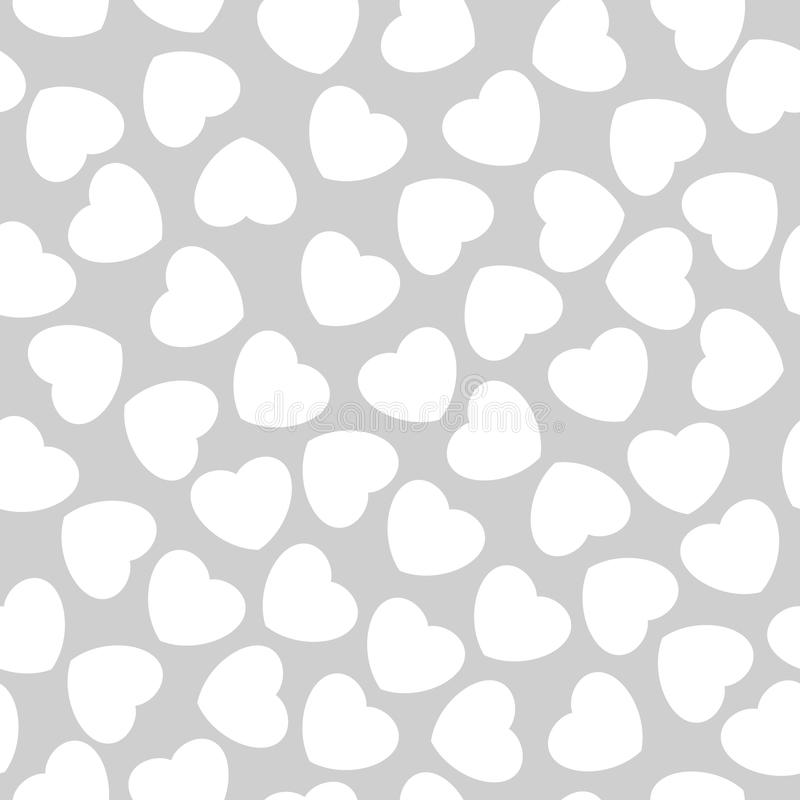 Seamless pattern with hearts. Romantic texture. Background with hearts. Valentines day, wedding, baby shower graphic element. Vect stock illustration