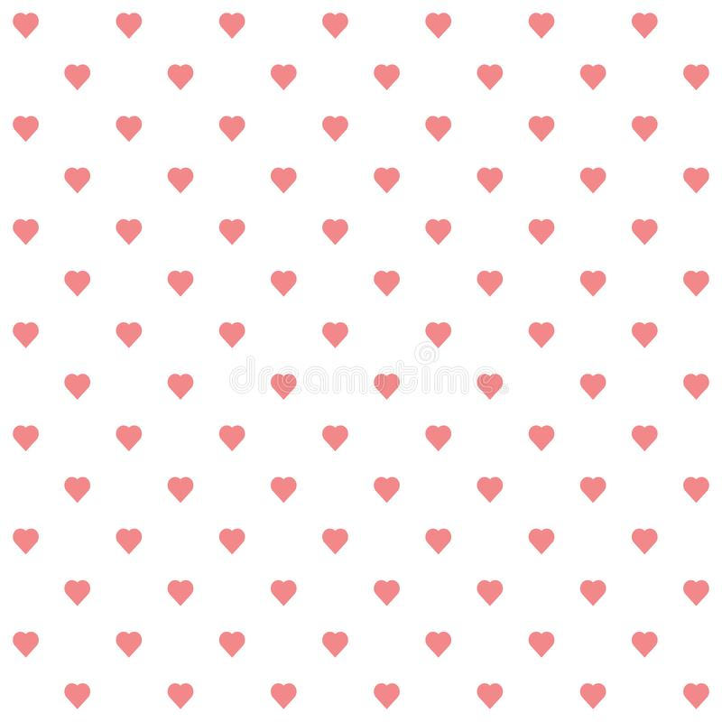 Vector of seamless pattern of hearts royalty free illustration