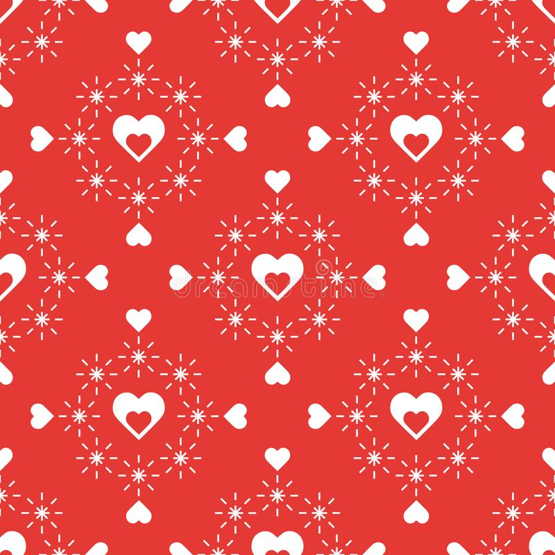 Seamless pattern with hearts. Valentine's Day stock illustration