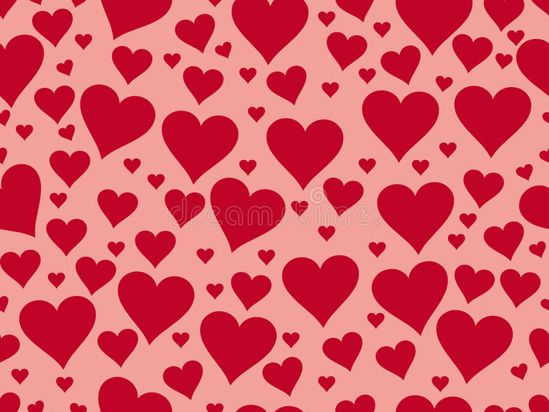Seamless pattern with hearts. Valentine's Day. Textile illustrat vector illustration