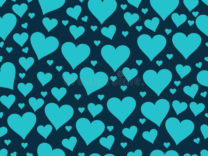 Seamless pattern with hearts. Valentine's Day. Textile illustrat. Ion. Vector royalty free illustration