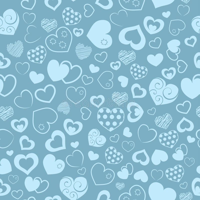 Seamless pattern of hearts stock illustration