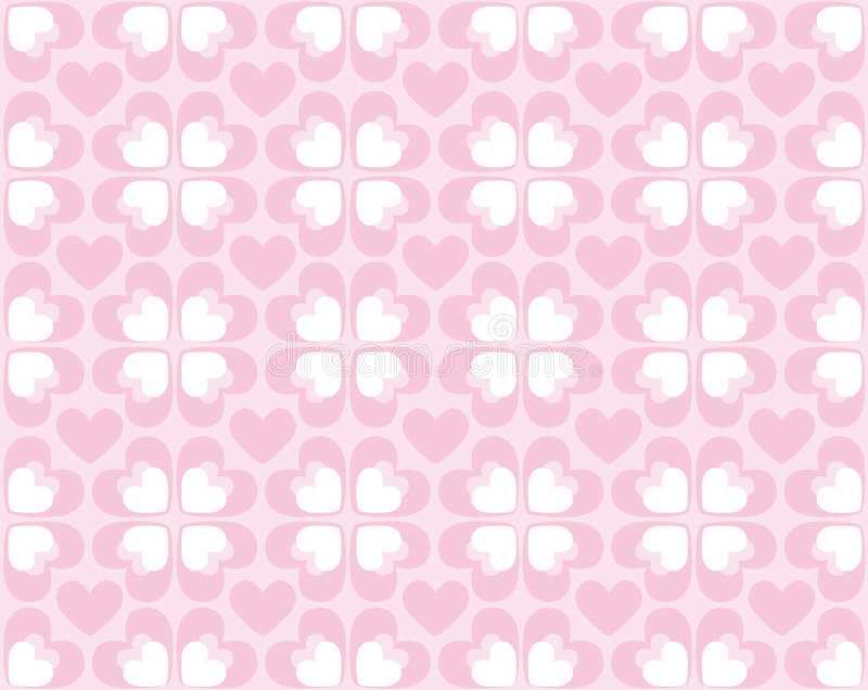 Seamless pattern of hearts - vector image royalty free illustration