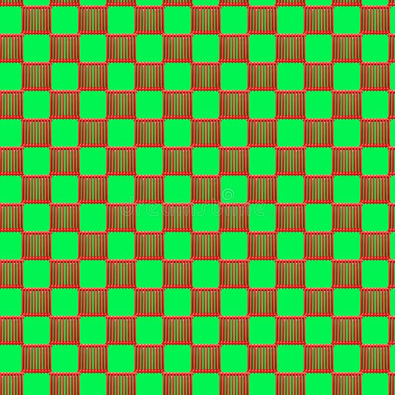 Seamless pattern with heating radiator on a light green background. Seamless pattern with red heating radiator on a light green background. Modern style royalty free stock photo