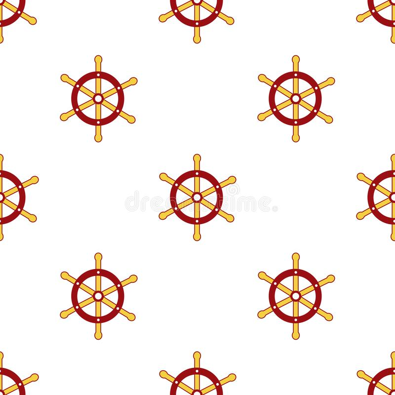 Seamless pattern. The helm of the ship. Endless texture for your design, greeting cards, announcements, posters. - Vector graphics. Seamless pattern. The helm of stock illustration
