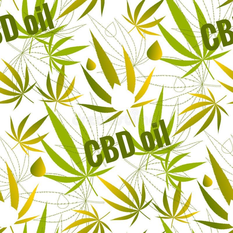 Seamless pattern with hemp leaves. Stock illustration stock illustration