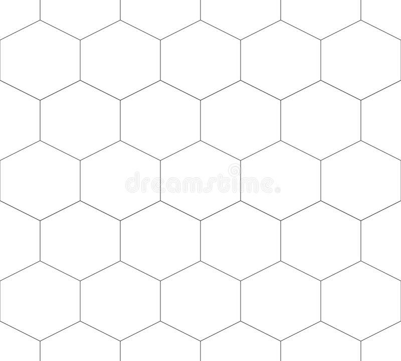 Seamless pattern of hexagon, abstract geometric background. Vector illustration. royalty free illustration