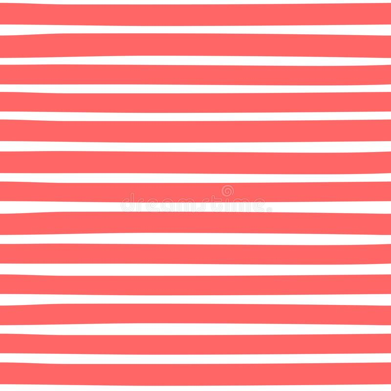 Seamless pattern with horizontal stripes. stock illustration