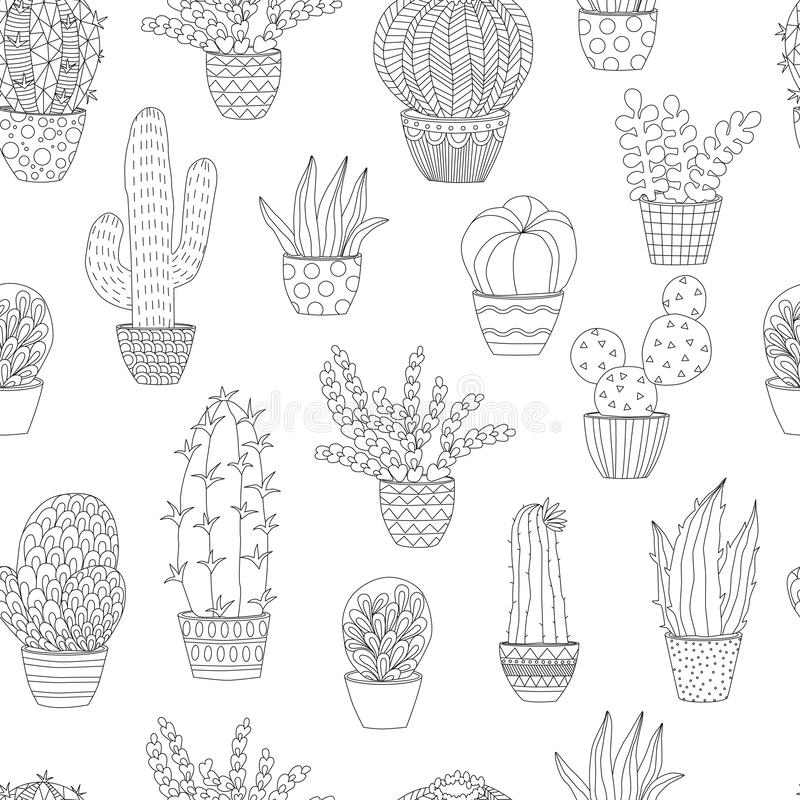 Printable Cactus Coloring Pages For Kids | 800x800