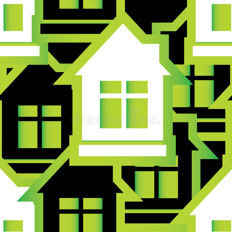 Download Seamless Pattern Of Houses Stock Images - Image: 27424144