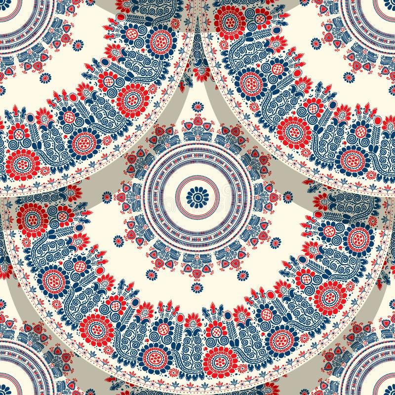 Hungarian motif tile vector illustration