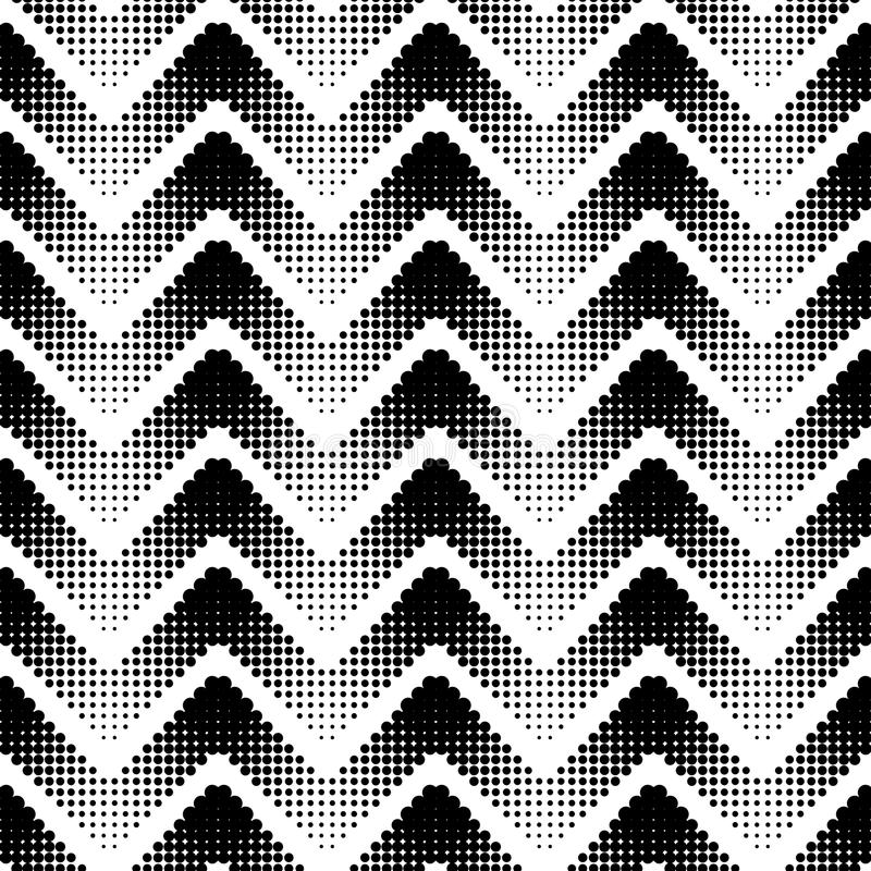 Seamless pattern. Seamless illustrated pattern in black and white vector illustration