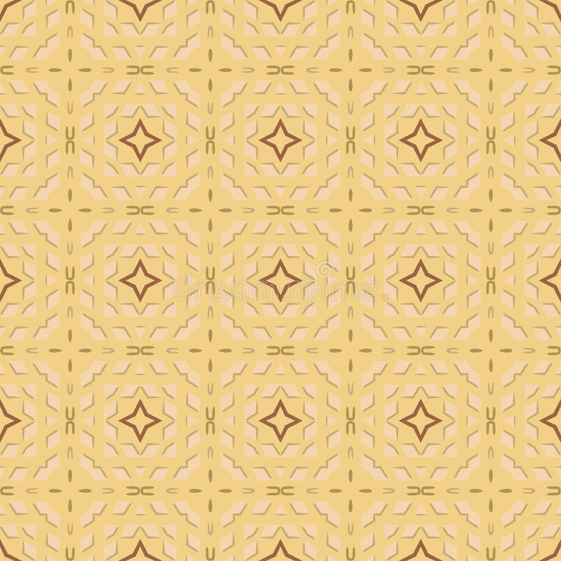Seamless pattern. Seamless illustrated pattern made of abstract elements royalty free illustration