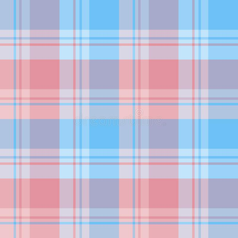 Free Seamless Pattern In Fine Blue And Pink Colors For Plaid, Fabric, Textile, Clothes, Tablecloth And Other Things. Vector Image Stock Photo - 178783770