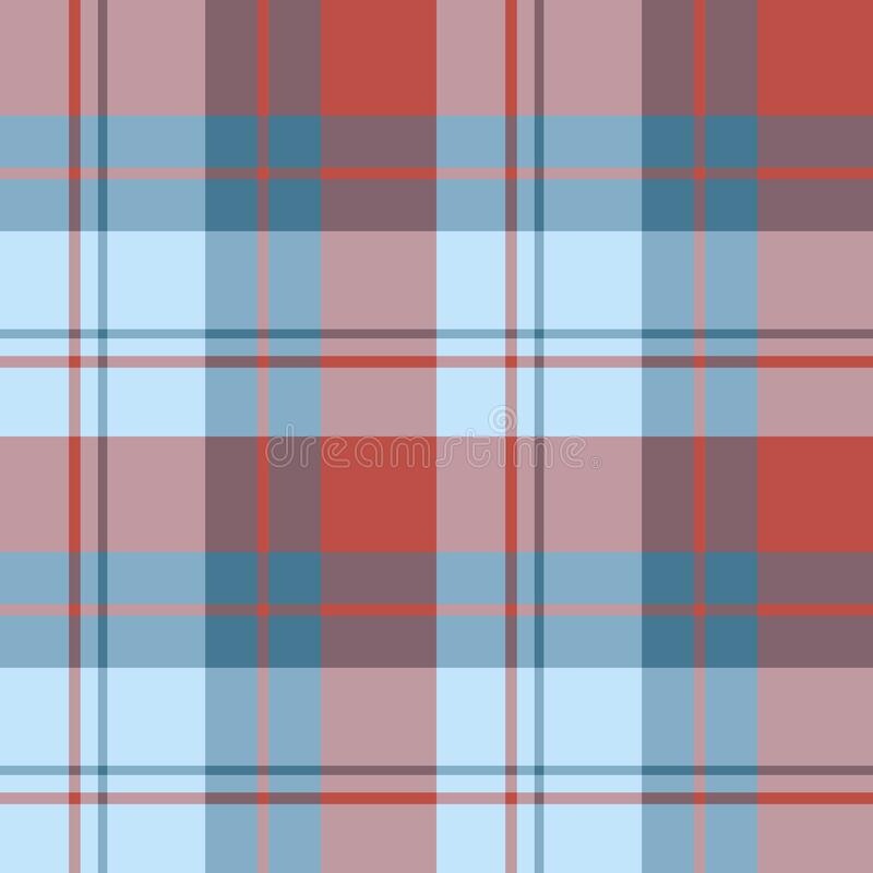 Free Seamless Pattern In Fine Blue And Red Colors For Plaid, Fabric, Textile, Clothes, Tablecloth And Other Things. Vector Image Royalty Free Stock Image - 178784296