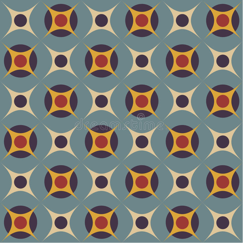Free Seamless Pattern In Retro Colors Royalty Free Stock Images - 28417579