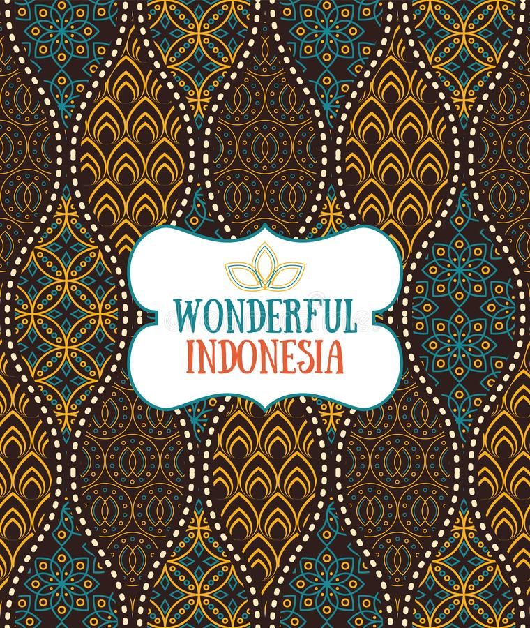 Seamless pattern in Indonesian vintage batik luxury style stock illustration