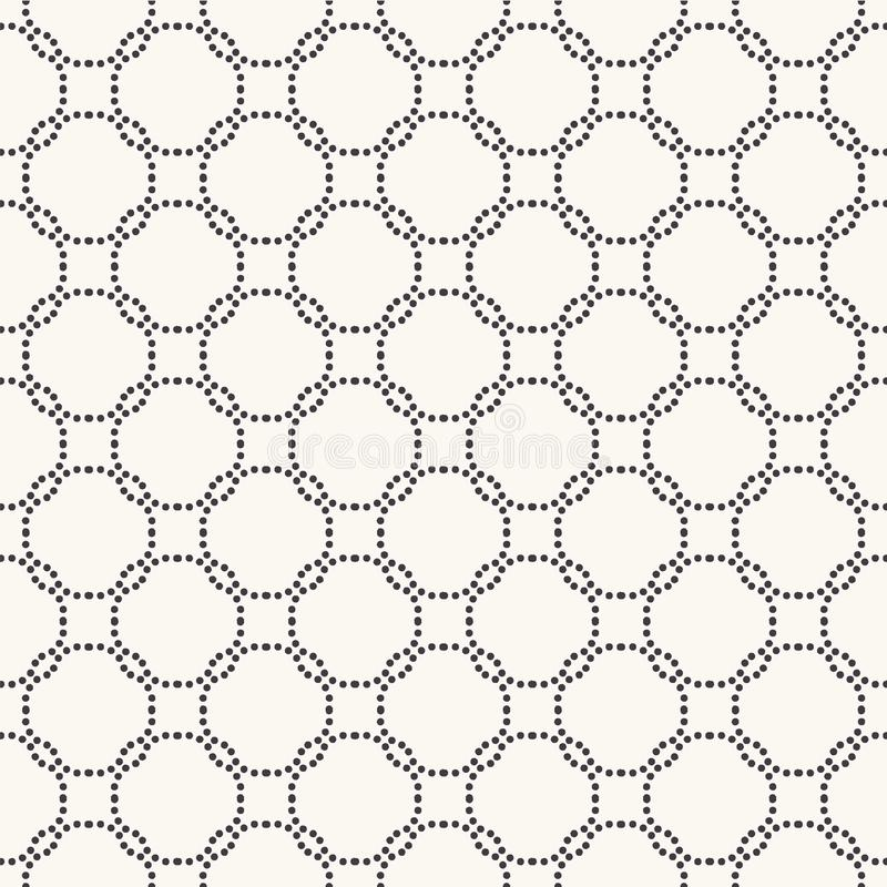 Seamless pattern. Hand drawn interlocking polka dot background. Monochrome dotty black and white circle. All over print vector. Seamless pattern.Interlocking vector illustration