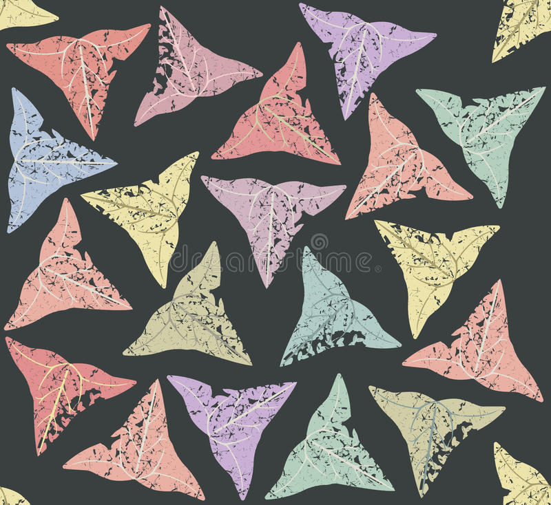 Seamless pattern with ivy leaves vector illustration