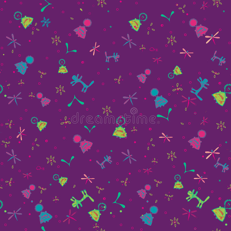 Seamless pattern for kids stock photography
