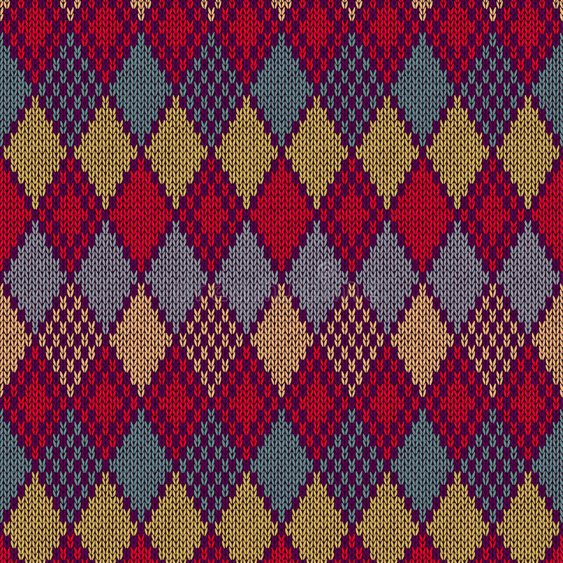 Seamless Pattern. Knit Texture Stock Images