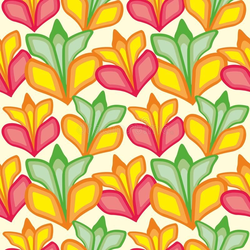 Seamless pattern of large flowers. Background for fabrics, wallpapers, coatings, prints and designs. EPS file, vector. The template will fill in any form vector illustration