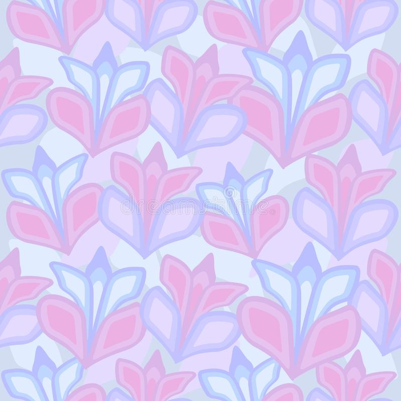 Seamless pattern of large flowers. Background for fabrics, wallpapers, coatings, prints and designs. EPS file, vector. The template will fill in any form stock illustration