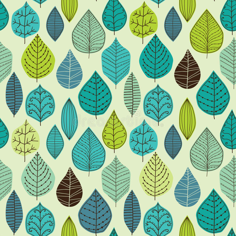 Seamless pattern with leaf, abstract leaf texture, endless background.Seamless pattern can be used for wallpaper, pattern vector illustration