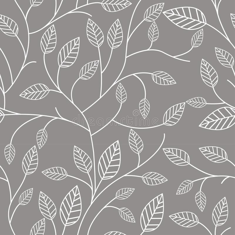 Seamless pattern with leafs stock illustration