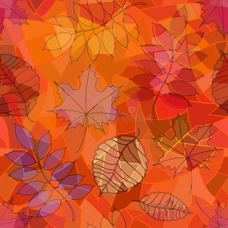 Seamless pattern of leaves vector illustration
