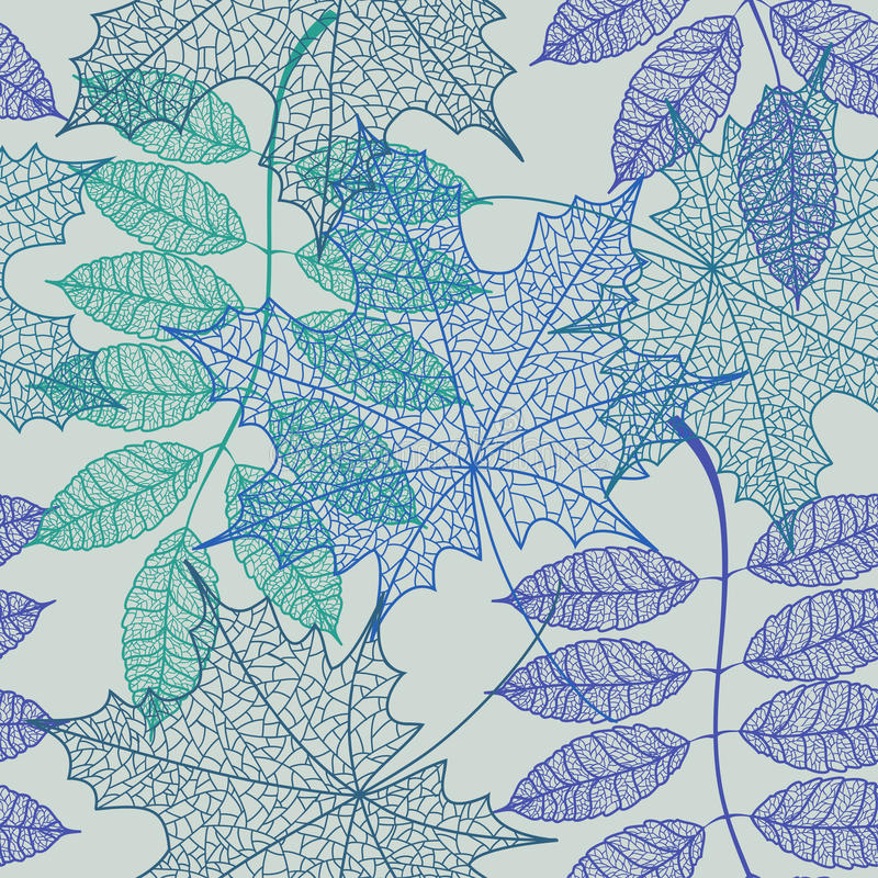 Download Seamless pattern of leaves stock vector. Illustration of nature - 42189922