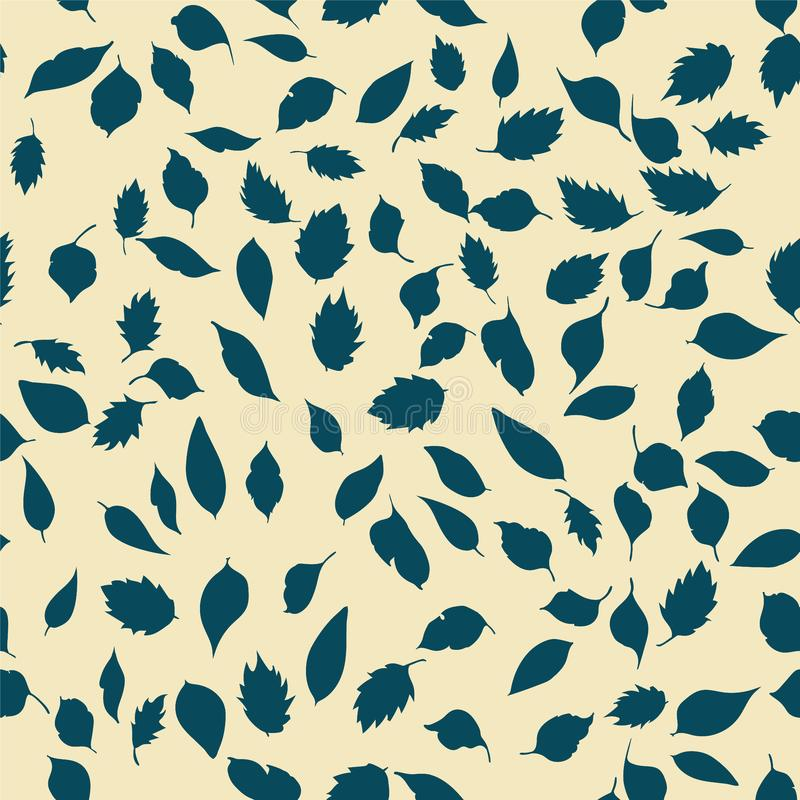 Seamless pattern. leaves royalty free stock image