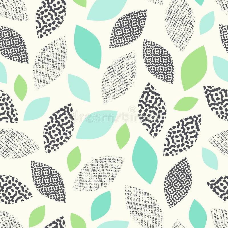 Seamless pattern with leaves royalty free illustration