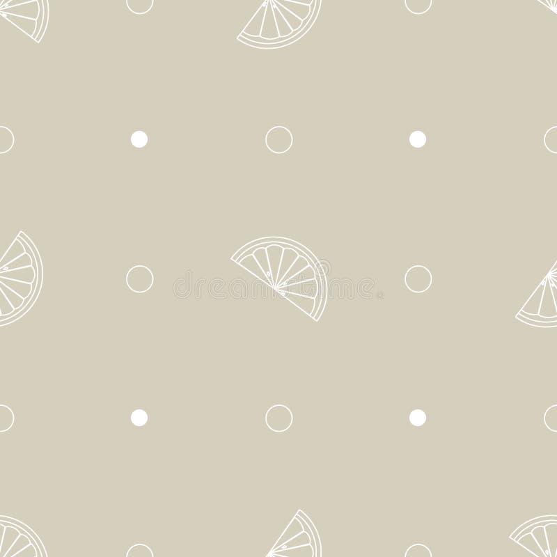 Seamless pattern with lemon slice vector illustration background vector illustration