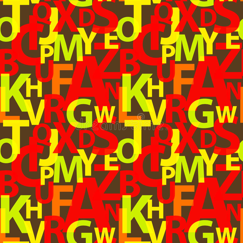 Download Seamless Pattern With The Letters Stock Vector - Image: 16483407